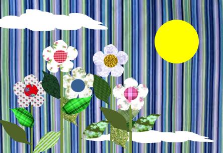 MOLDES PARA PATCHWORK: Molde, modelo, imagem de paisagem com flor para ...