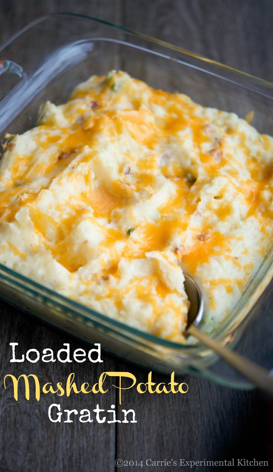 Carrie's Experimental Kitchen: Loaded Mashed Potato Gratin