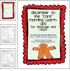http://www.teacherspayteachers.com/Product/December-to-the-Core-Morning-Warm-ups-in-Language-and-Math-431519