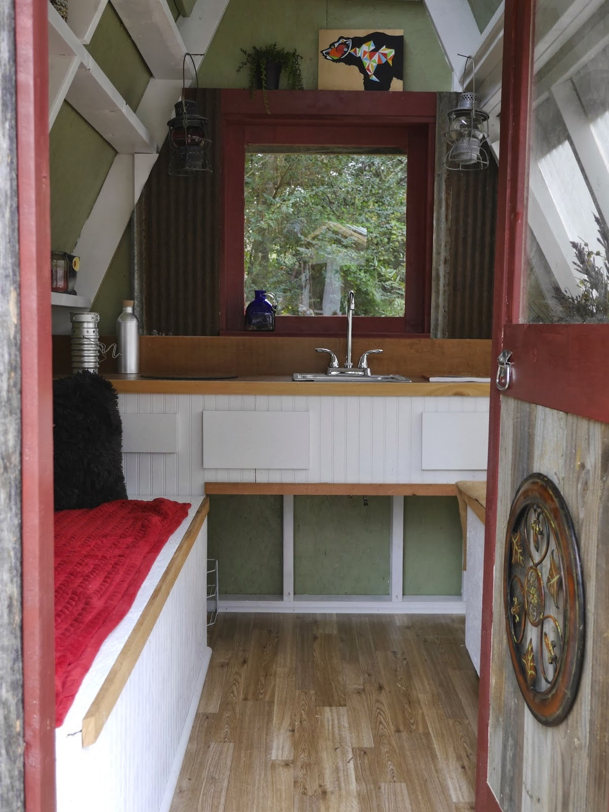 Tiny house building and design workshop for A frame interior
