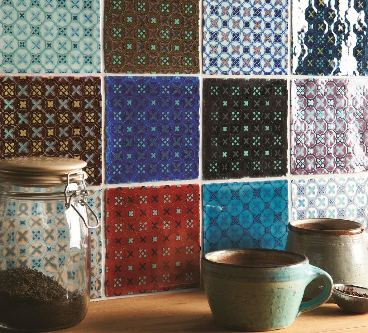 :   de 20 ambientes com azulejo (e piso) retrô Cores da Casa #2E6F85 1181x1070 Banheiro Com Azulejo Retro