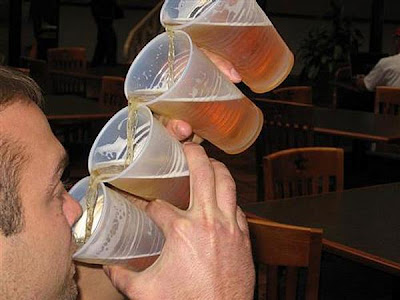 Amazing Drinks, How to Drink Simultaneously from 4 glasses