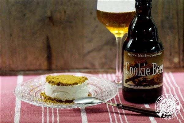 Mascarponetaartje met crumble van speculaas met Cookie Beer