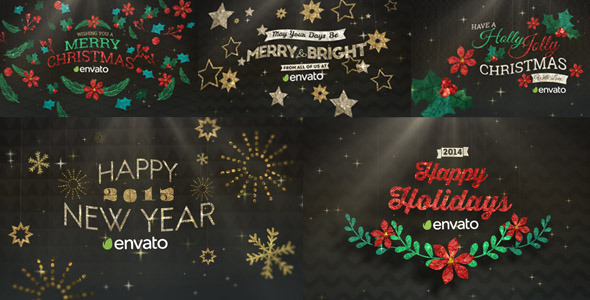 VideoHive Hanging Holiday Greetings Pack