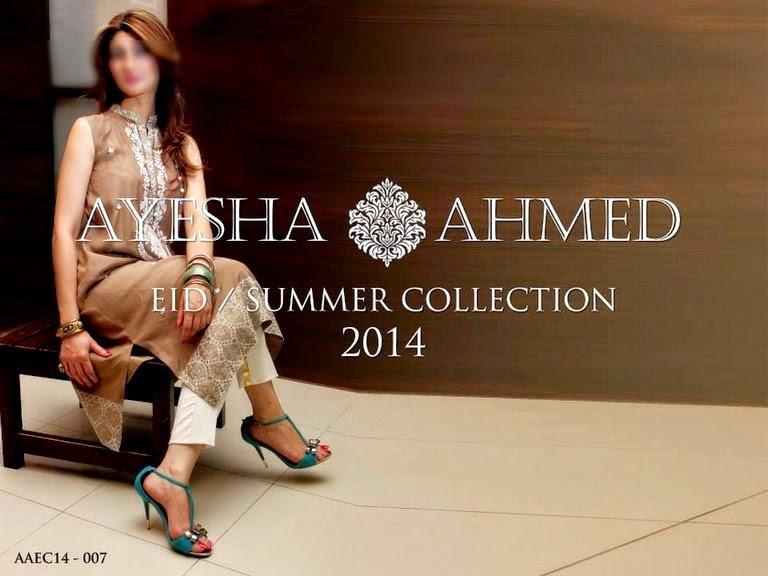 Ayesha Ahmed EID Dress Collection 2014