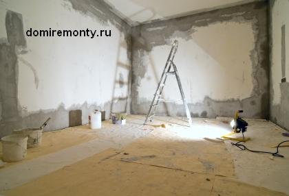 Особенности при ремонте пола и стен в квартире