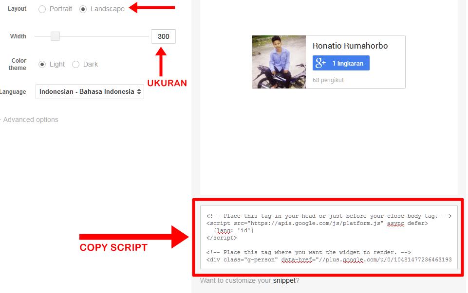 Cara Memasang Widget pengikut google Plus ringan di Blog