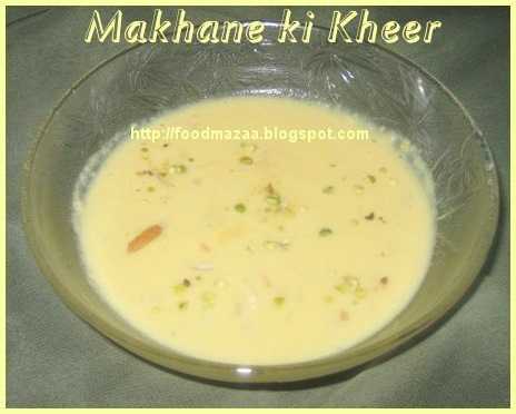 I loved this image of makhane kheer recipe