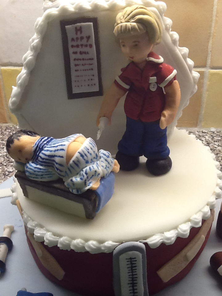 Nurse Gills 50th Birthday Cake