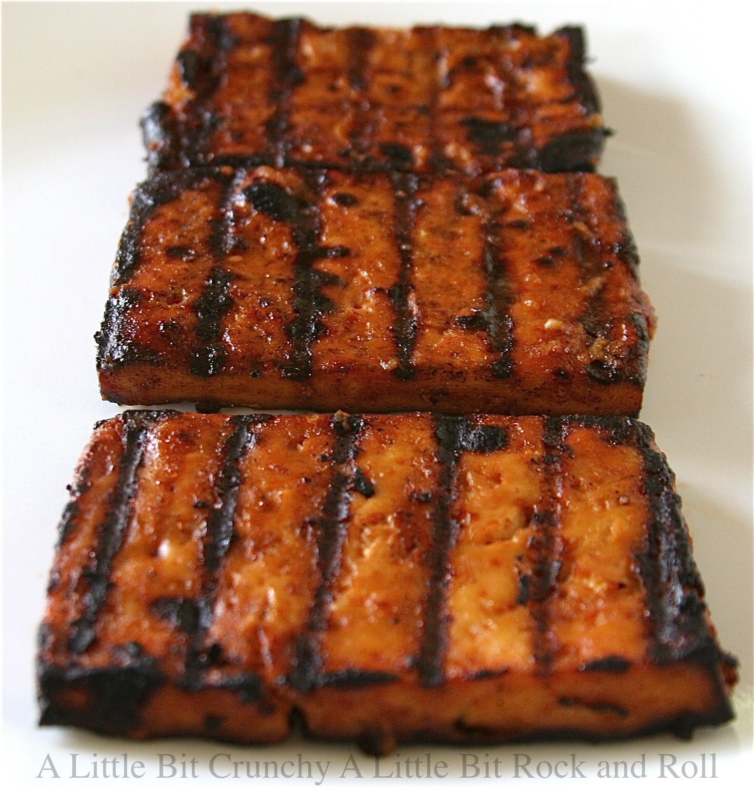 Little Bit Crunchy A Little Bit Rock and Roll: Beer Barbecued Tofu