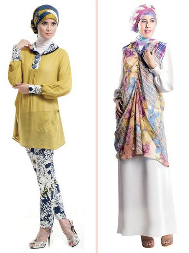 Contoh Baju Muslim Brokat untuk Pesta