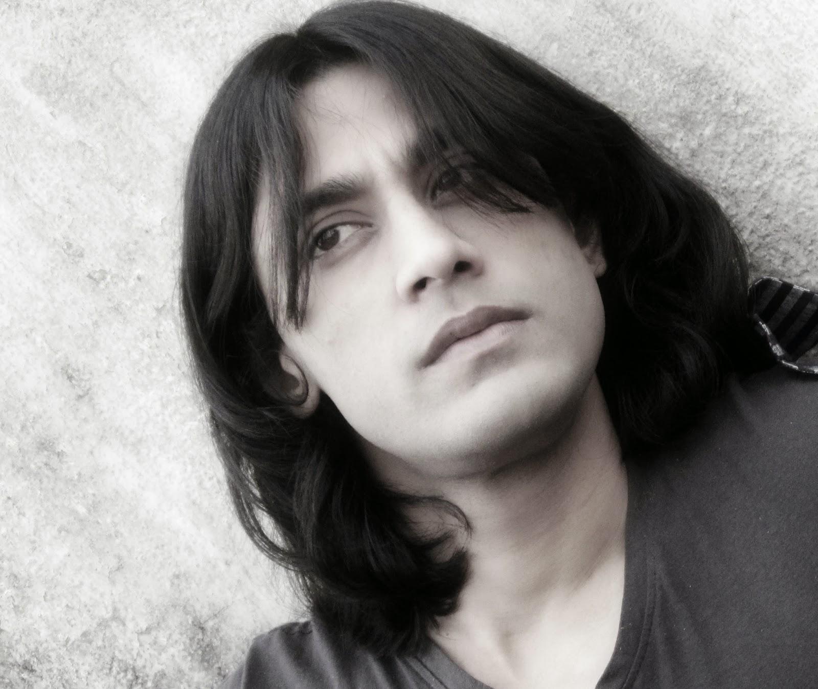 Rajkumar Patra Long Hairstyle fashion & attractive eye expression
