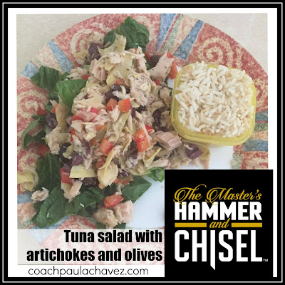 tuna salad, hammer and chisel, paula chavez, coach, 21 day fix , recipes, clean eating