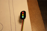 Lit scratch built trackside signal