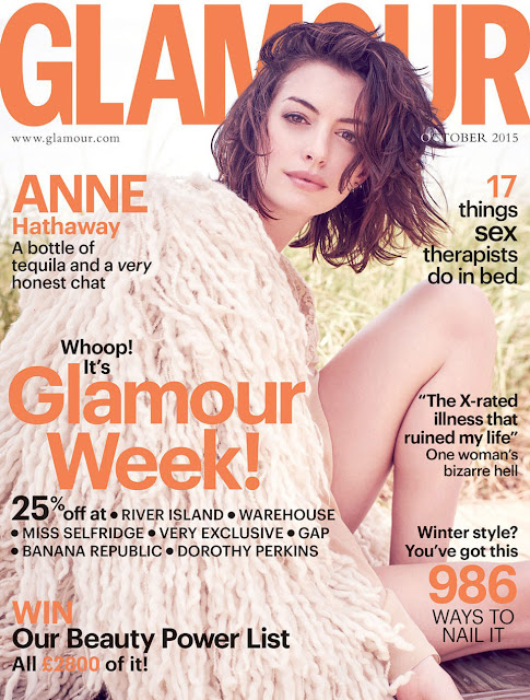 Actress, Singer @ Anne Hathaway - Glamour UK, October 2015