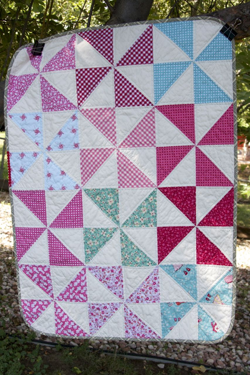 a quilt is nice: pinwheels