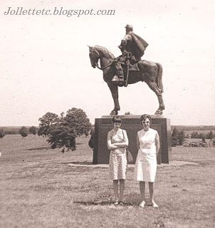 Wendy Slade and Mary Davis Slade at Manassas Battlefield 1966