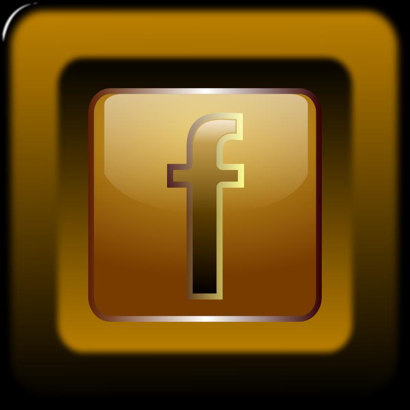 Icono de facebook en bot n cuadrado imagenes sin copyright for Icono boton