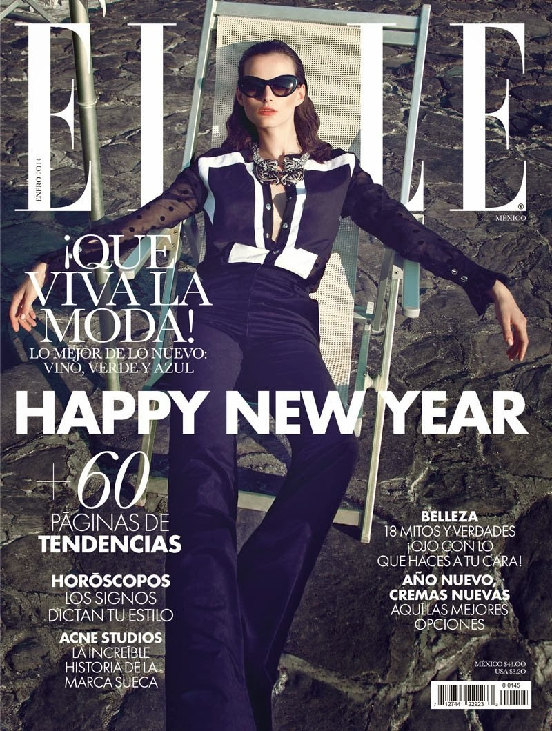 Magazine Photoshoot : Sibui Nazarenko Photoshoot pics by Federica Putelli on Elle Magazine Mexico January 2014 I