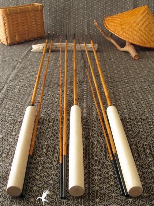 Tenkara enso encountering a bamboo craft master masayuki for Tenkara fishing rods