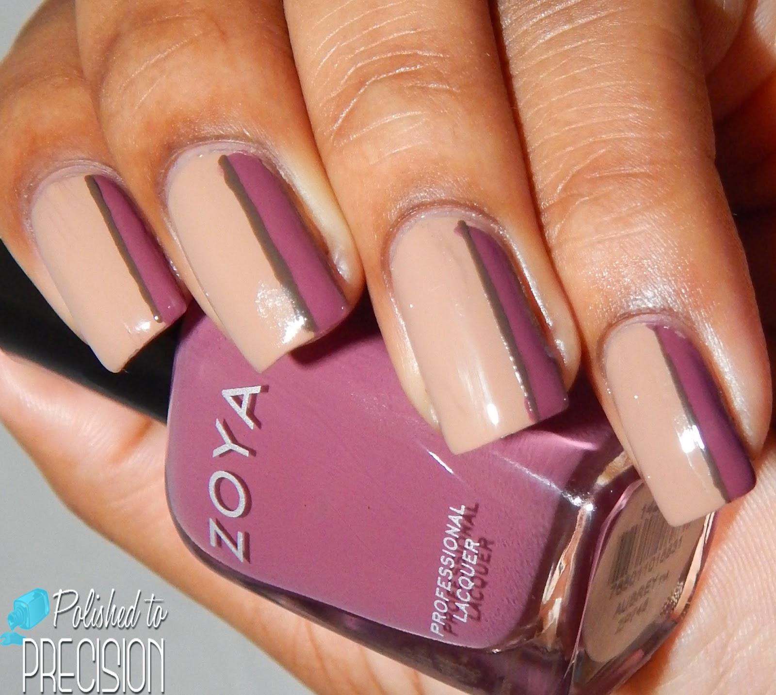 Zoya Naturel Deux Sideways French Manicure