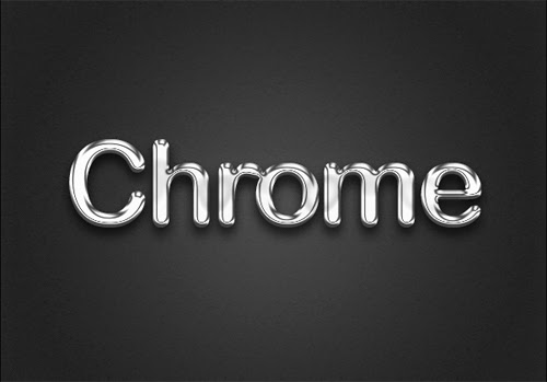 Create Chrome Text Effect In Photoshop