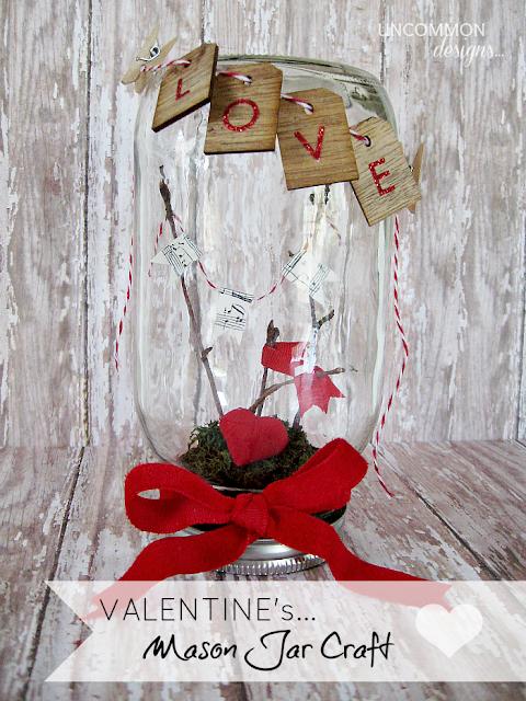 Valentine's Mason Jar Craft