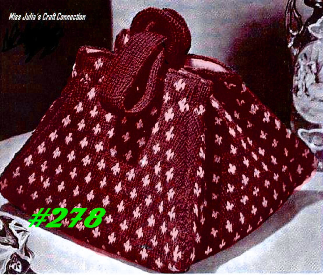 Free Patterns For Bags : Miss Julias Patterns: Favorite Bags to Knit & Free Patterns