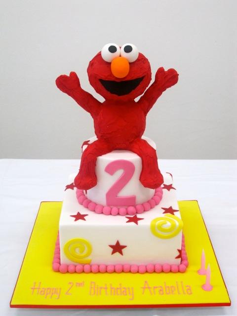 handis cakes Elmo Spiderman Birthday Cake