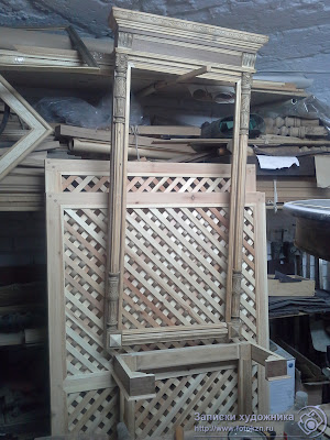 Реставрационная мастерская по дереву, рама от зеркала