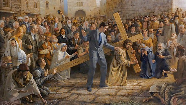 pauca verba jesus carries his cross the seventh station