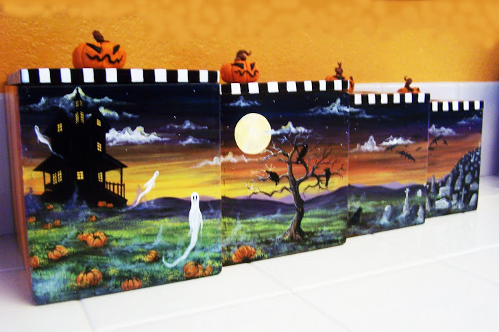 Halloween Side of Kitchen Canisters