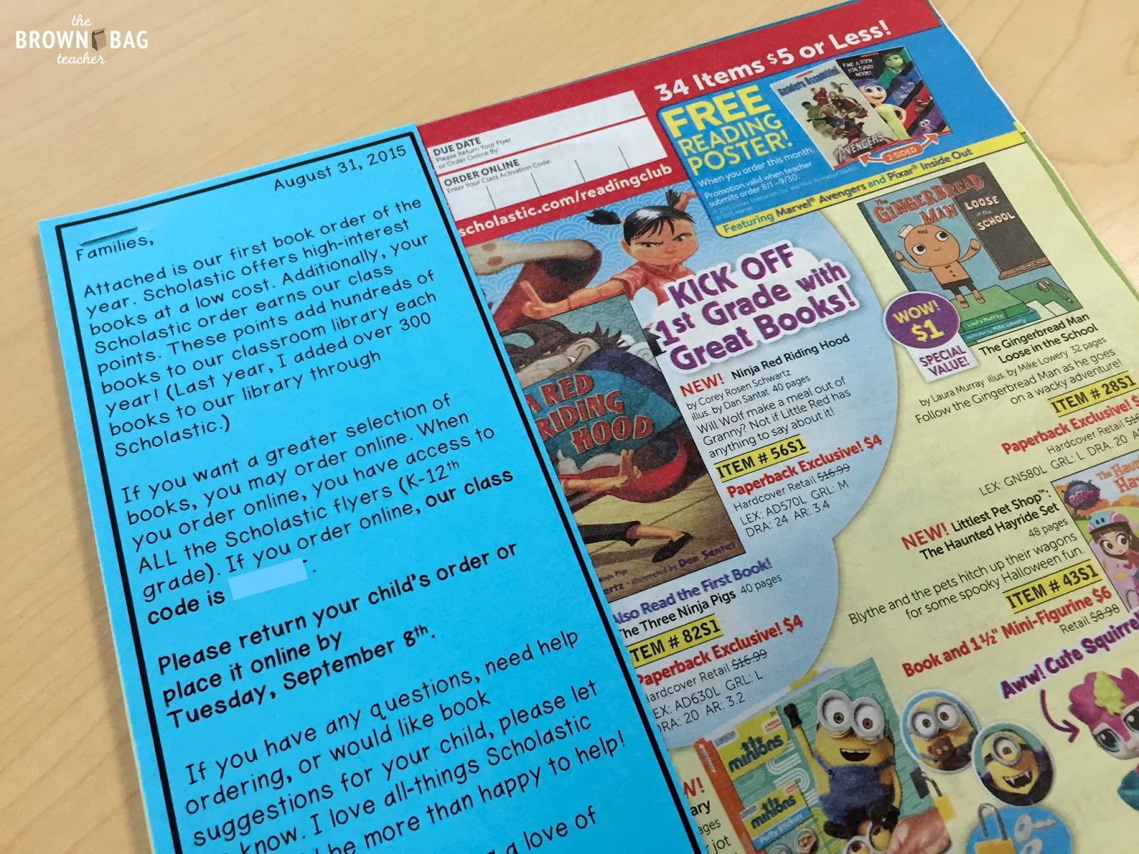 Scholastic reading club tips tricks the brown bag teacher if youre interested in this editable note feel free to click here you can also snag letters about reading club on your scholastic teacher desk fandeluxe Gallery