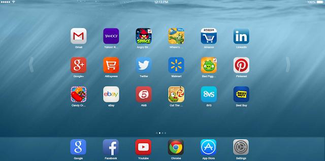 تطبيق غوغل كروم  لشغل عليه تطبيقات وألعاب الأيفون