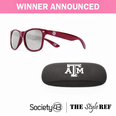 Society43 Sunglasses and Case Giveaway Winner Announced