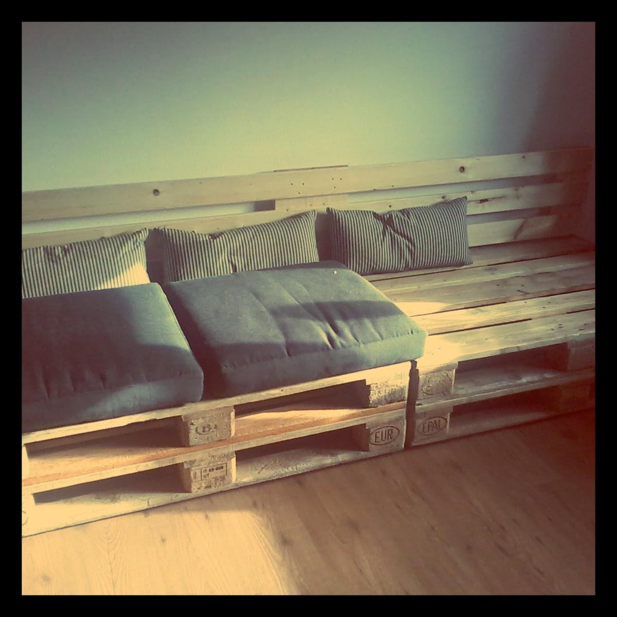 Idea design ecologico divano pallet - Divano pallet schienale ...