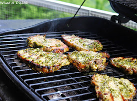 Cilantro Grilled Pork Chops