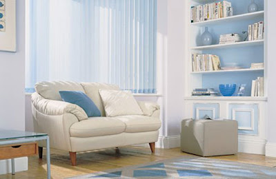 sala azul y blanco