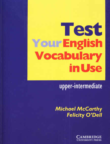 Free ebook : test your english vocabulary in use