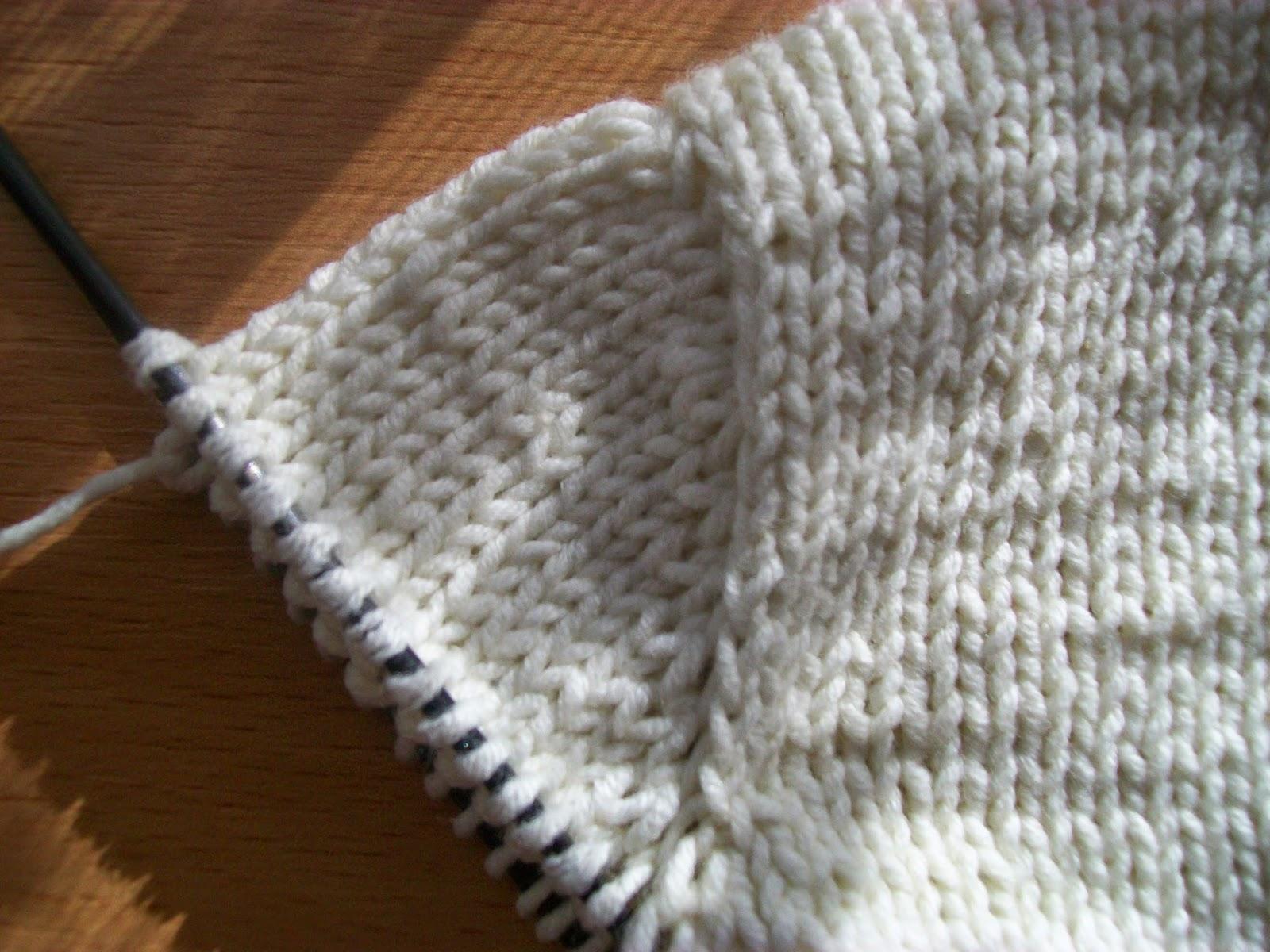 имитация вязания втачного рукава