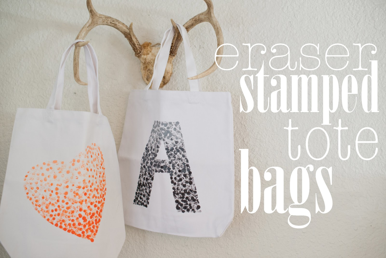 Diy Eraser Stamped Tote Bag Tutorial