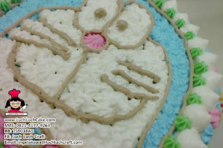 kue tart doraemon buttercream