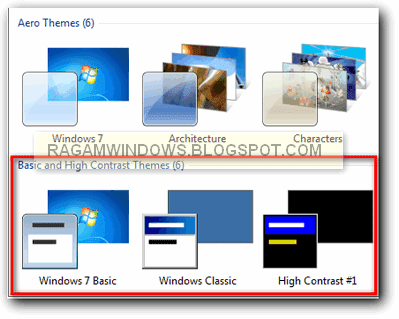 aero theme windows 7