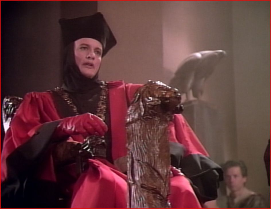 "Q in ""Encounter at Farpoint"""