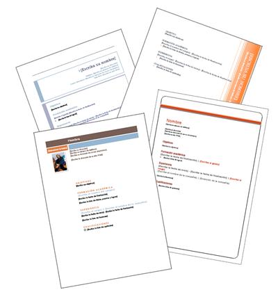 modelo de curriculum vitae en espaol. ejemplos curriculum vitae.
