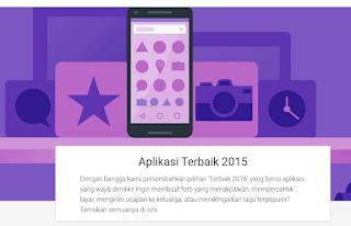 Top Terbaik Best  Populer Apps 2015 Google Play Store