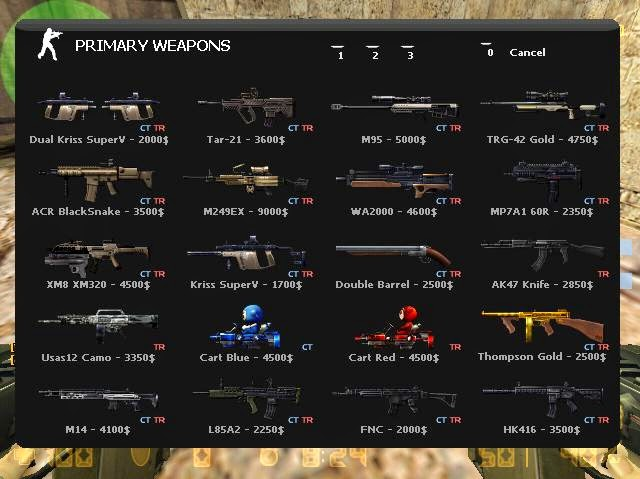 Counter Strike Extreme v7 Game Weapons