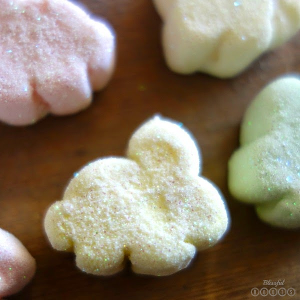 DIY Glittered Marshmallow Bunnies from Blissful Roots