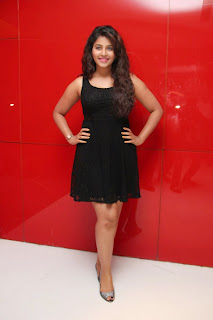 Actress Anjali Latest  Pictures in Short Dress at Kayal Movie Audio Launch  12.jpg