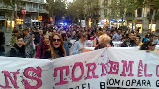 """A demonstration of transgenders asks for more """"visibility"""" / #Barcelona #Manitrans"""